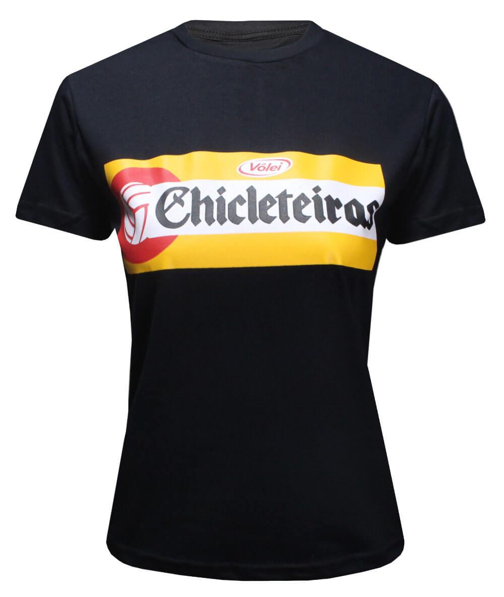 Camiseta Vôlei Chicleteiras Preta - Feminina