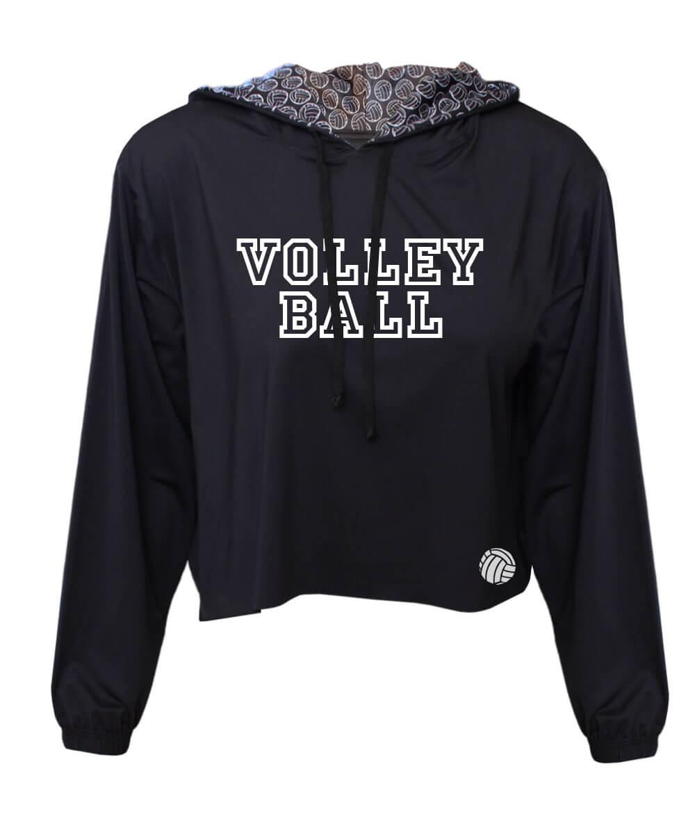 Cropped Volleyball Preto - Feminino