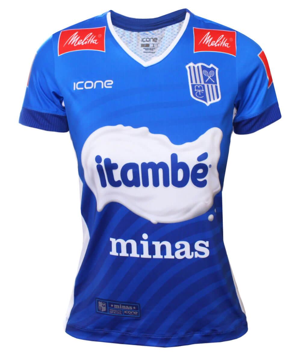 Camisa de Vôlei Itambé/Minas 2020/21 Azul - S/N° - Feminina