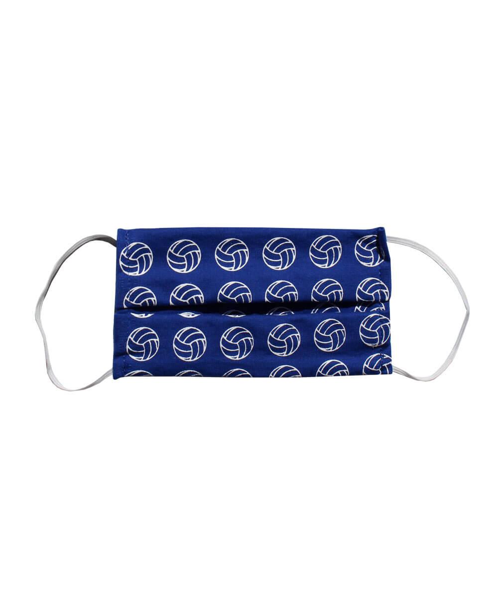 Máscara de proteção com estampa de vôlei - Azul