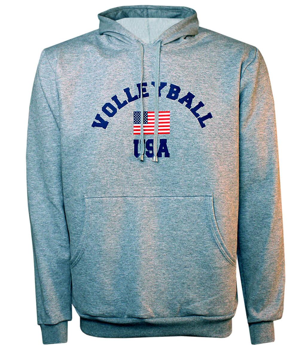 Moletom USA Volleyball 2019/20 Mescla - Unissex
