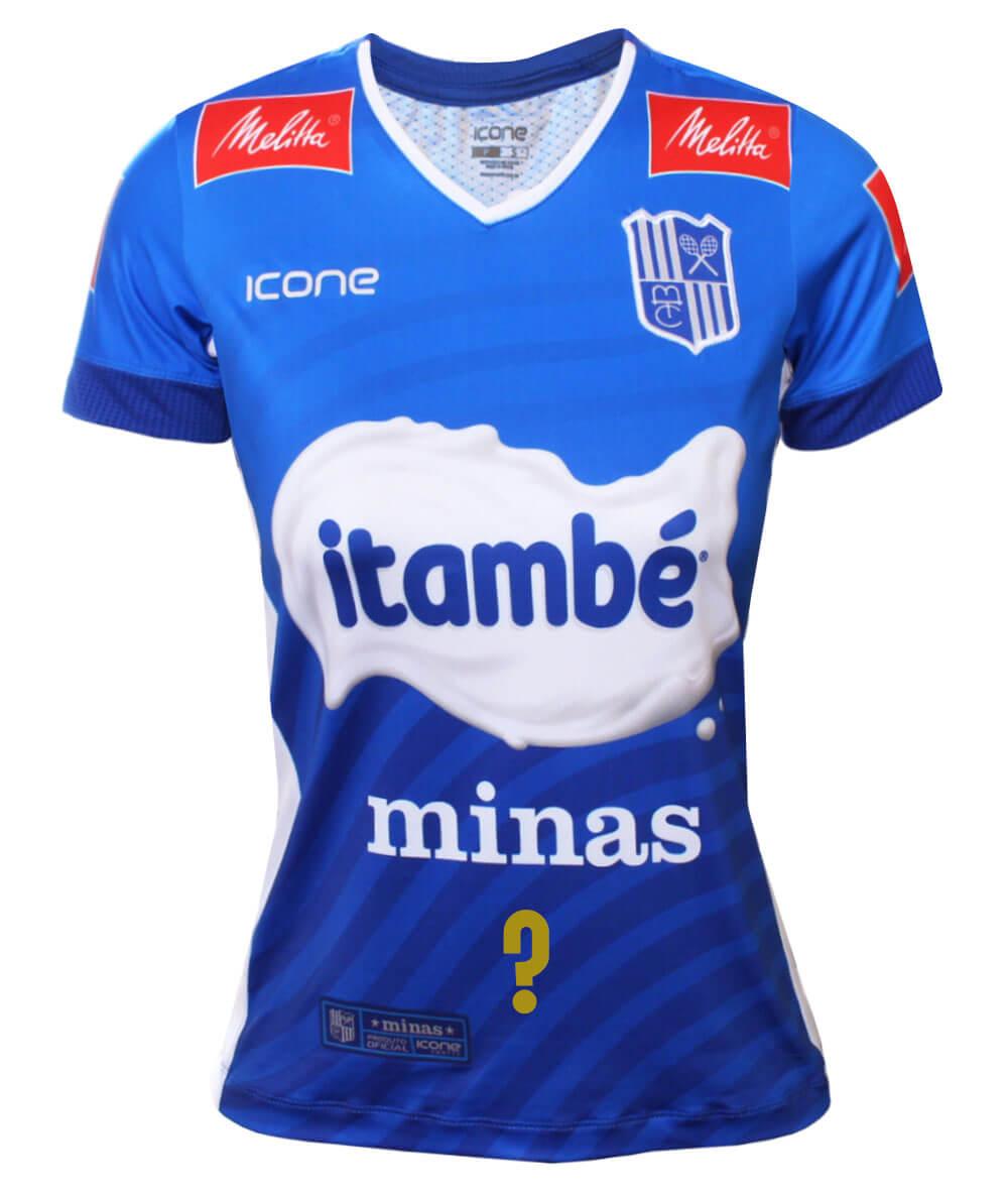 Camisa de Vôlei Itambé/Minas 2020/21 Azul - Personalizada - Feminina