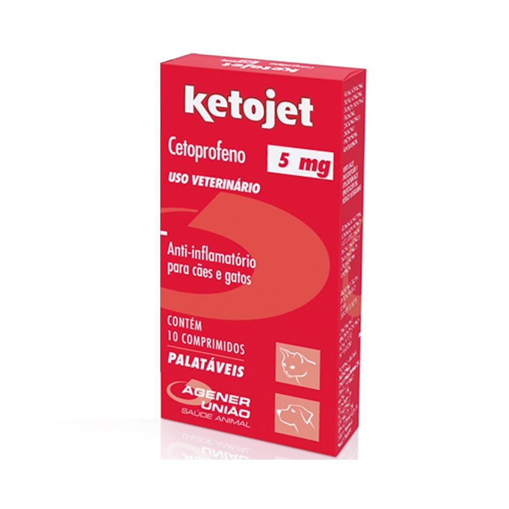 Anti-Infamatório Ketojet Cetoprofeno  5mg 10 comprimidos