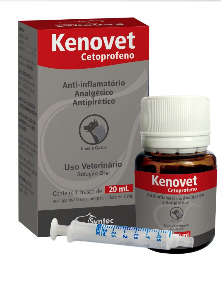 Anti-Inflamatório Syntec Kenovet 20ml Cetoprofeno para Cães e Gatos