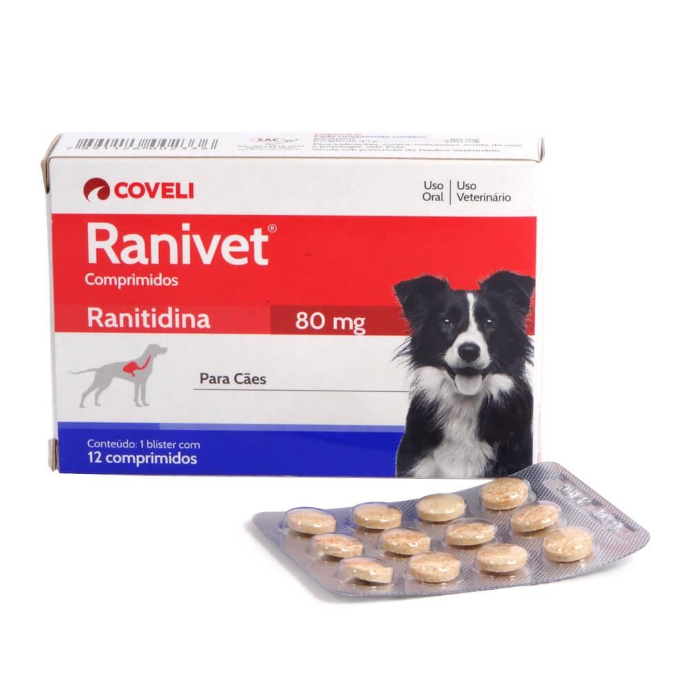 Antiácido Coveli Ranivet Ranitidina 80mg 12comprimidos