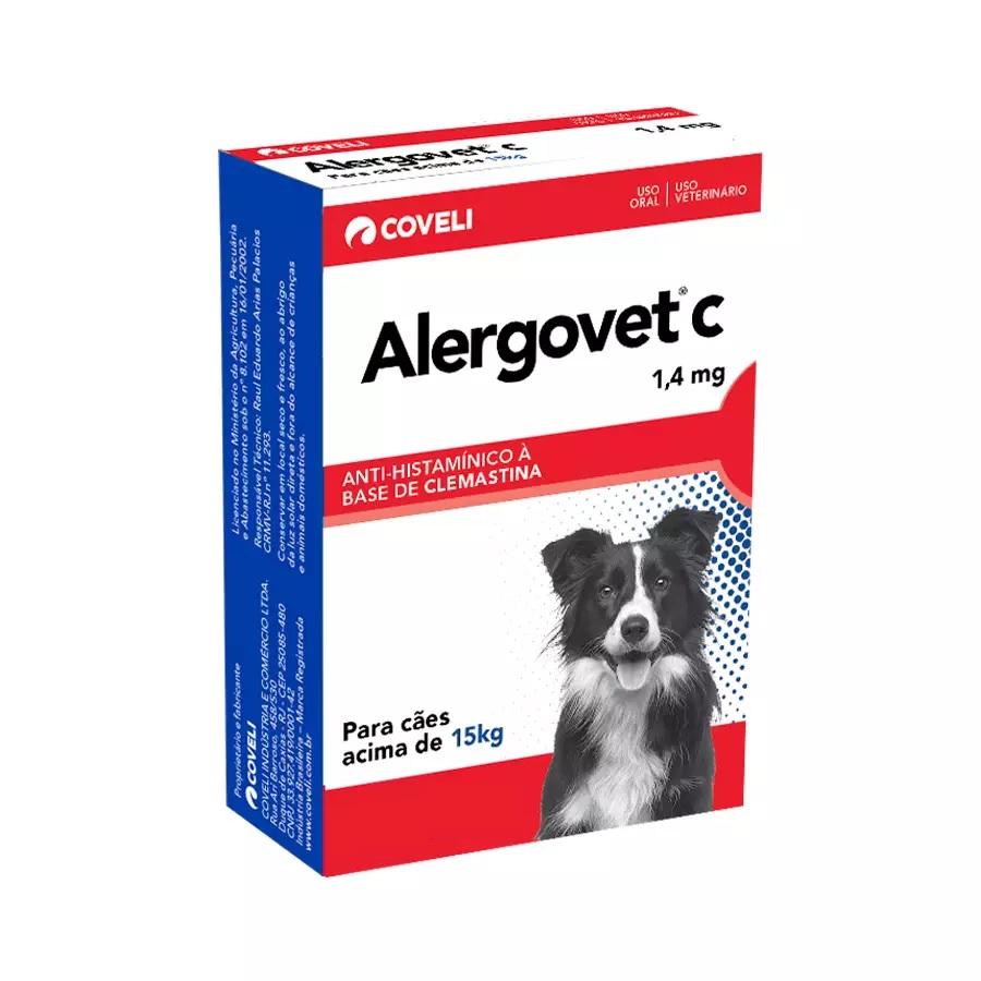 Antialérgico Coveli Alergovet C 1,4mg para Cães 10 Comprimidos