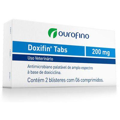 Antibiótico Doxifin Tabs 200mg 6 comprimidos para Cães Gatos