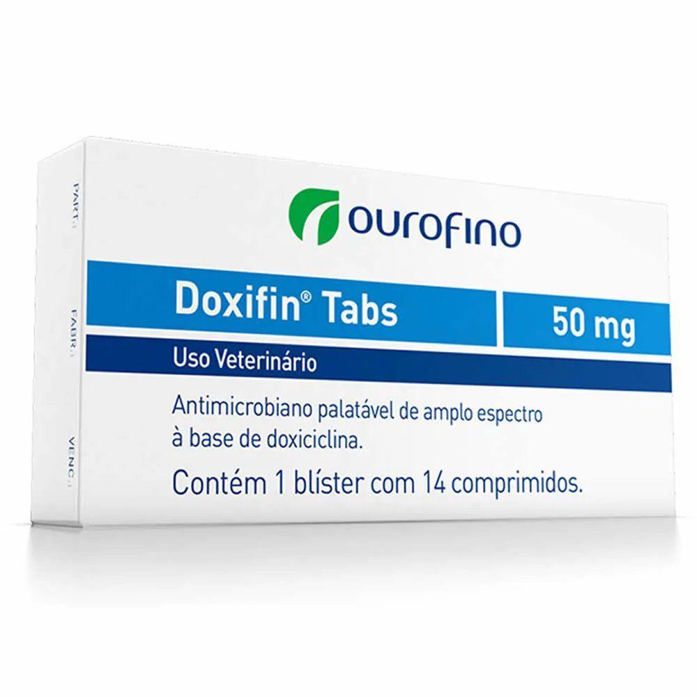 Antibiótico Doxifin Tabs 50mg 14 comprimidos para Cães Gatos