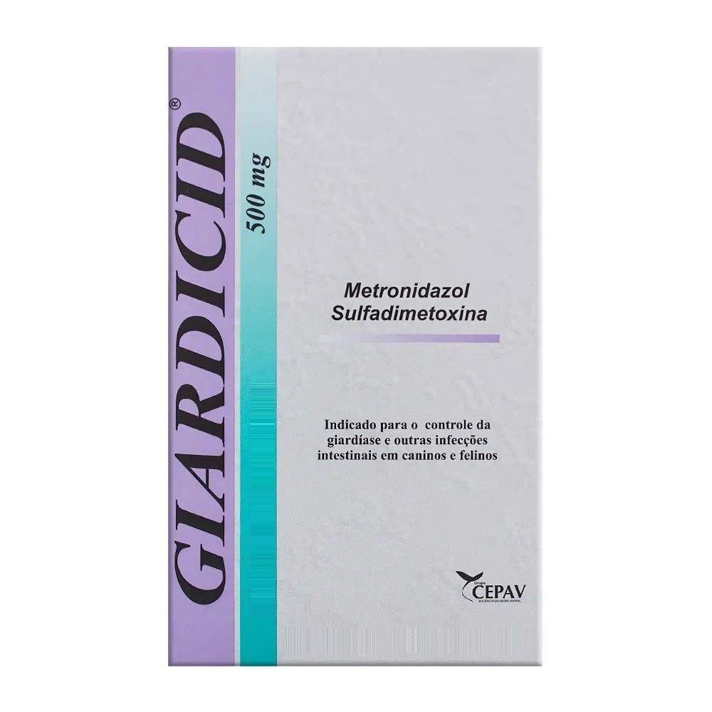 Antibiótico Giardicid 500mg