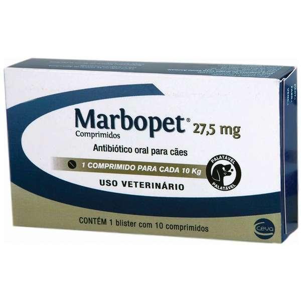 Antibiótico Marbopet 27,5 mg - 10 Comprimidos