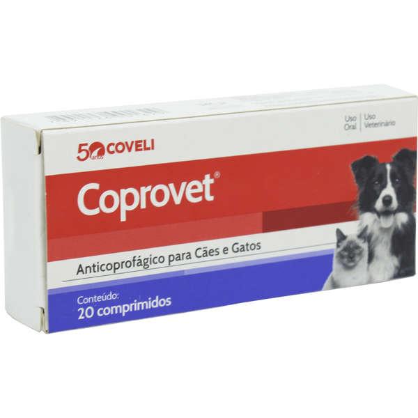 Anticoprofágico Coveli Coprovet para Cães e Gatos - 20 Comprimidos