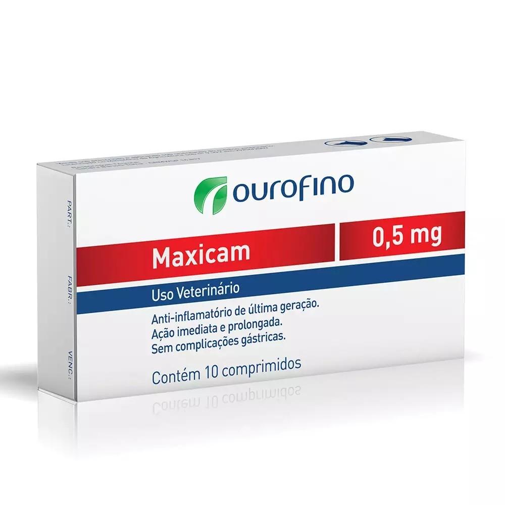Anti-inflamatório Maxicam 0,5mg 10 Comprimidos
