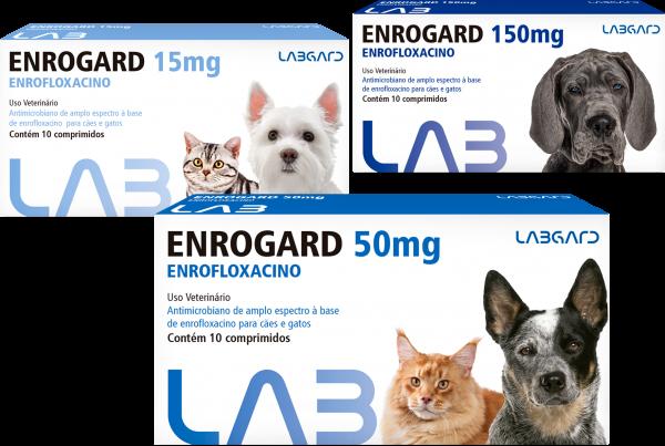 Antimicrobiano Enrogard Labgard para Cães e Gatos até 5kg