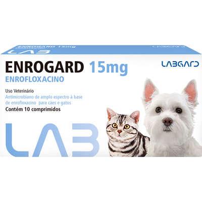 Antimicrobiano Labgard Enrogard 15mg para Cães e Gatos até 5kg