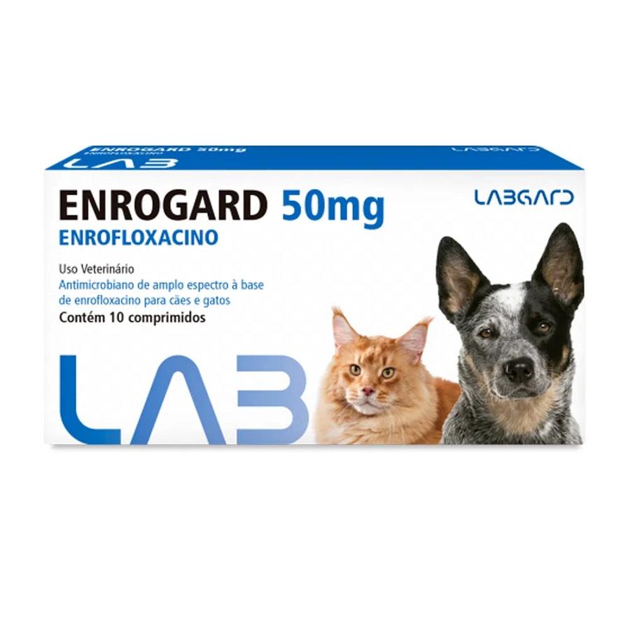 Antimicrobiano Labgard Enrogard para Cães e Gatos 50mg