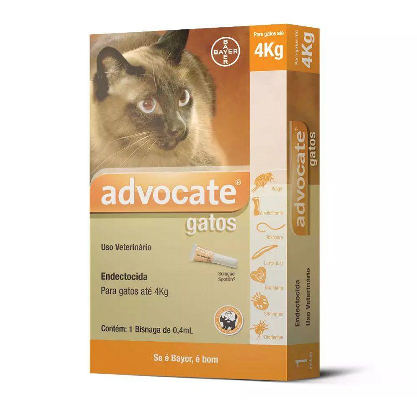 Antipulgas Advocate para Gatos de ate 4kg 0,4ml