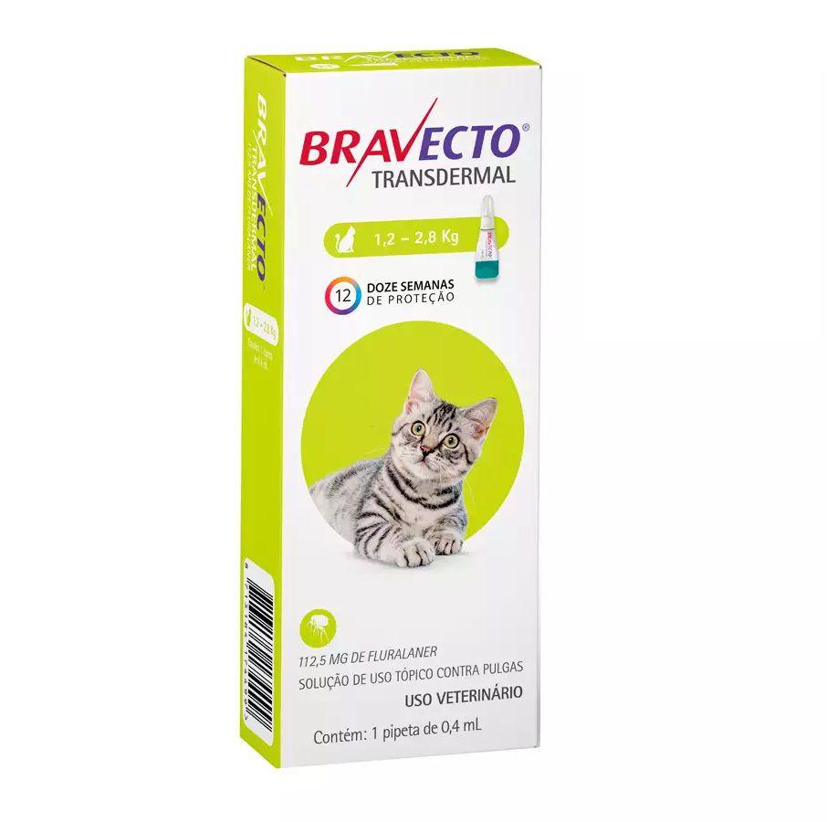 Antipulgas Bravecto Transdermal MSD para Gatos de 1,2 a 2,8Kg