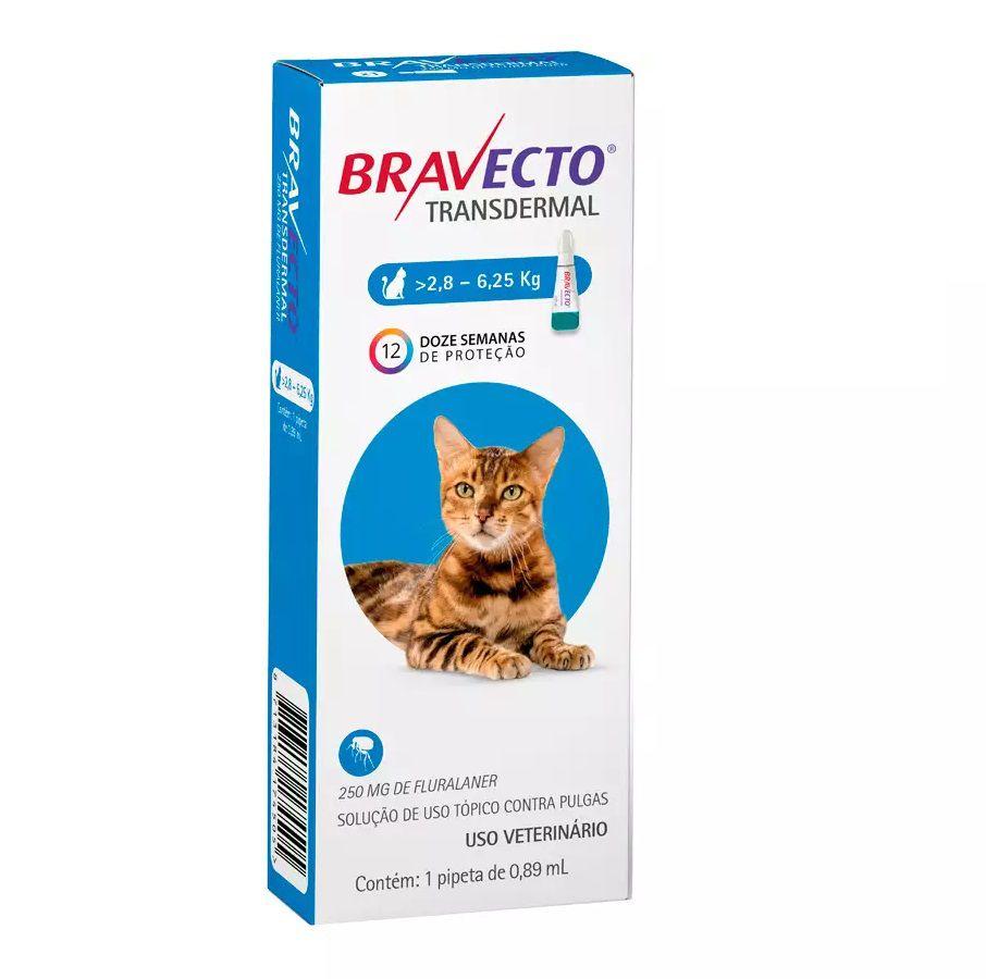 Antipulgas Bravecto Transdermal MSD para Gatos de 2,8 a 6,25Kg