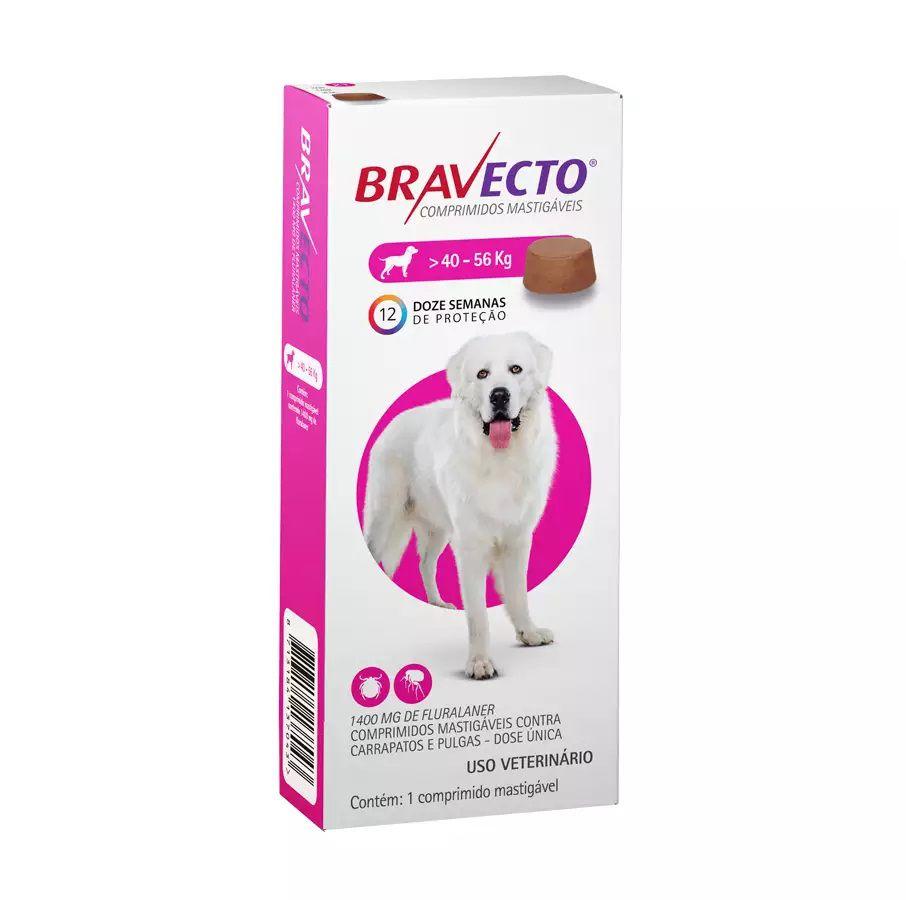 Antipulgas e Carrapatos Bravecto MSD para Cães de 40 a 56kg