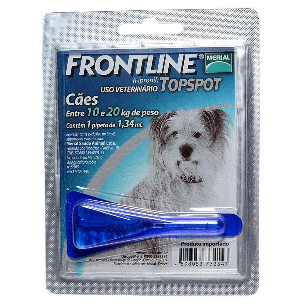 Antipulgas e Carrapatos Frontline Top Spot para Cães de 10 a 20Kg