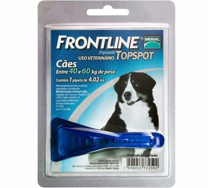 Antipulgas e Carrapatos Frontline Top Spot para Cães de 40 a 60Kg