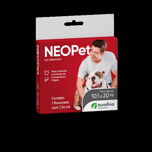 Antipulgas e Carrapatos Neopet 1,34ml para Cães de 10,1 até 20kg