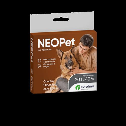 Antipulgas e Carrapatos Neopet 2,68ml para Cães de 20,1 até 40 Kg