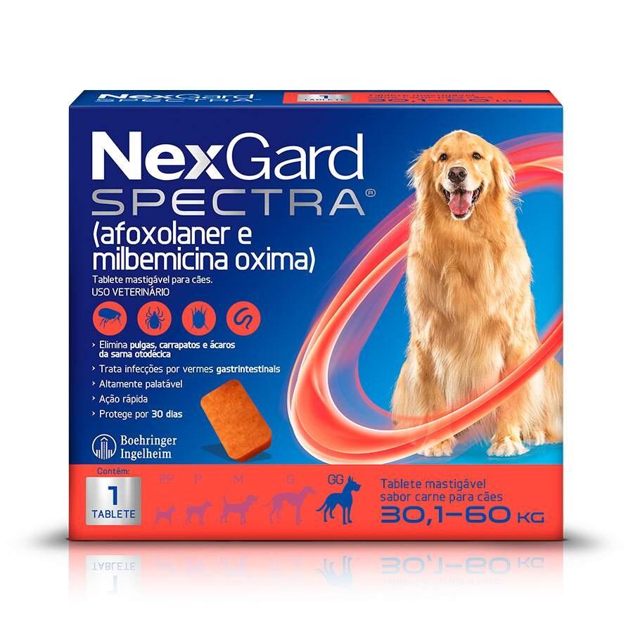 Antipulgas e Carrapatos NexGard Spectra para Cães de 30,1 a 60kg 1 Tablete
