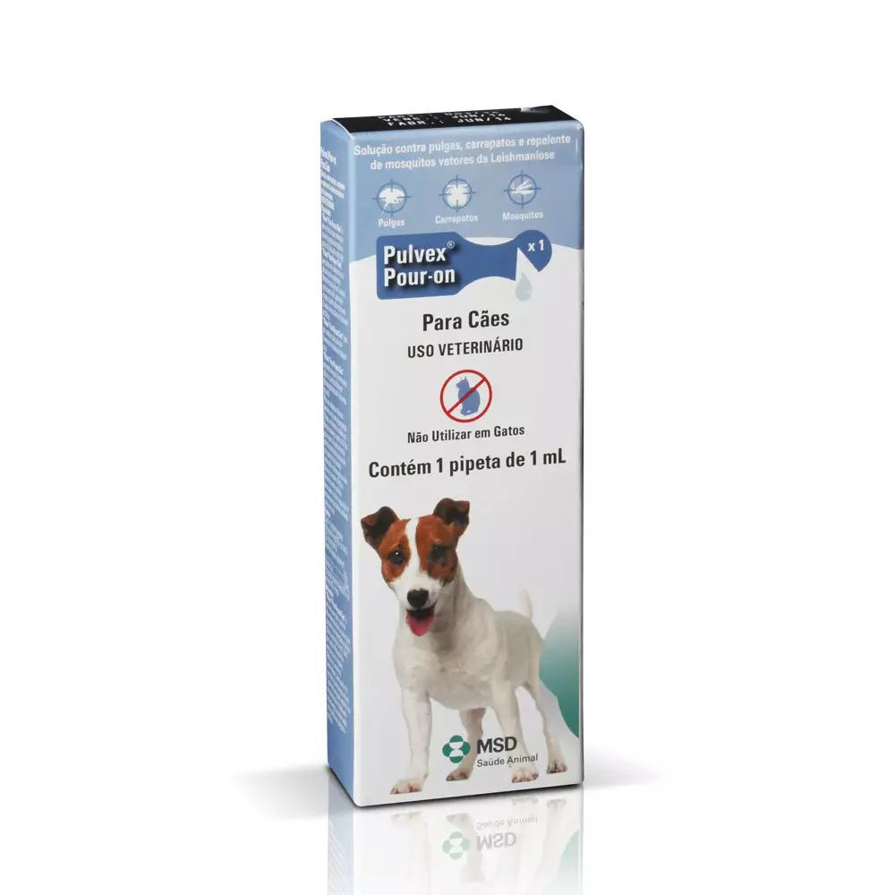 Antipulgas e Carrapatos Pulvex 1ml MSD para Cães