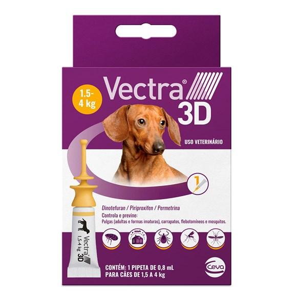 Antipulgas e Carrapatos Vectra 3D para Cães de 1,5 a 4kg