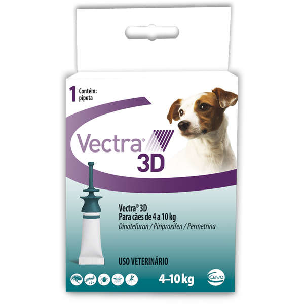 Antipulgas e Carrapatos Vectra 3D para Cães de 4 a 10kg
