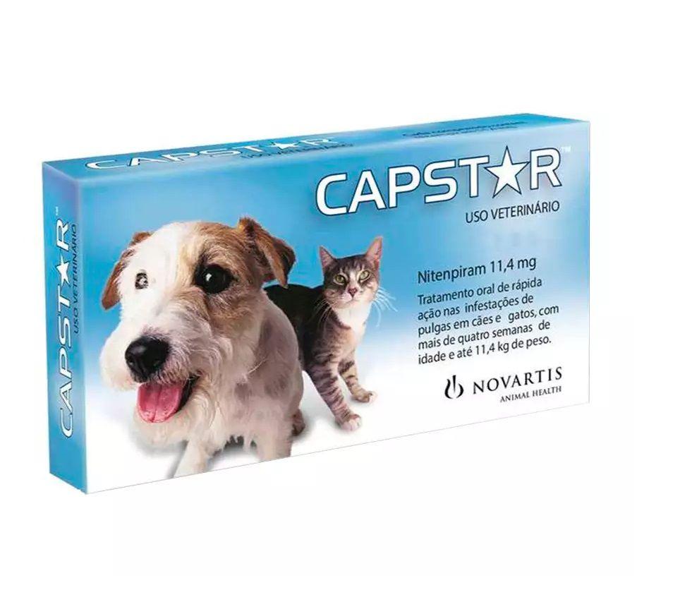Antipulgas Novartis Capstar 11mg para Cães e Gatos até 11,4Kg
