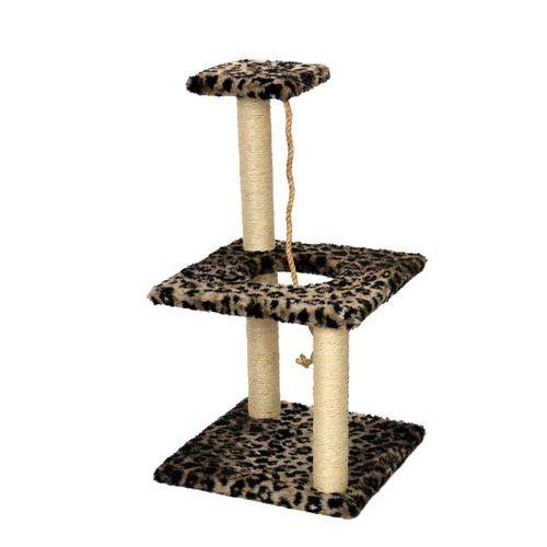 Arranhador para gatos quadrado 3 bases