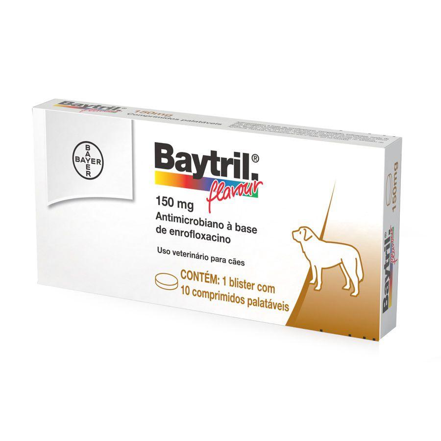 Baytril Flavour 150mg com 10 comprimidos