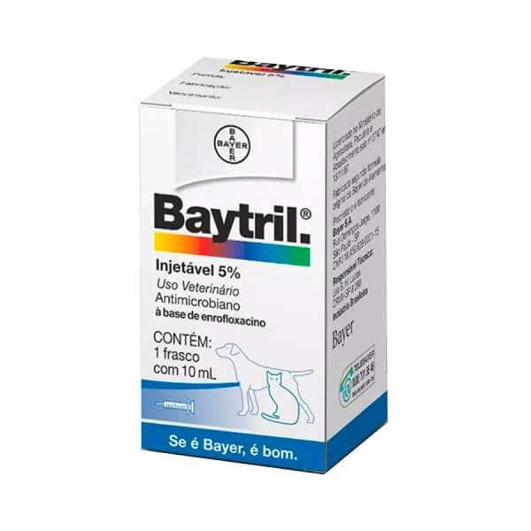 Baytril Injetável 5% para Cães e Gatos 10ml