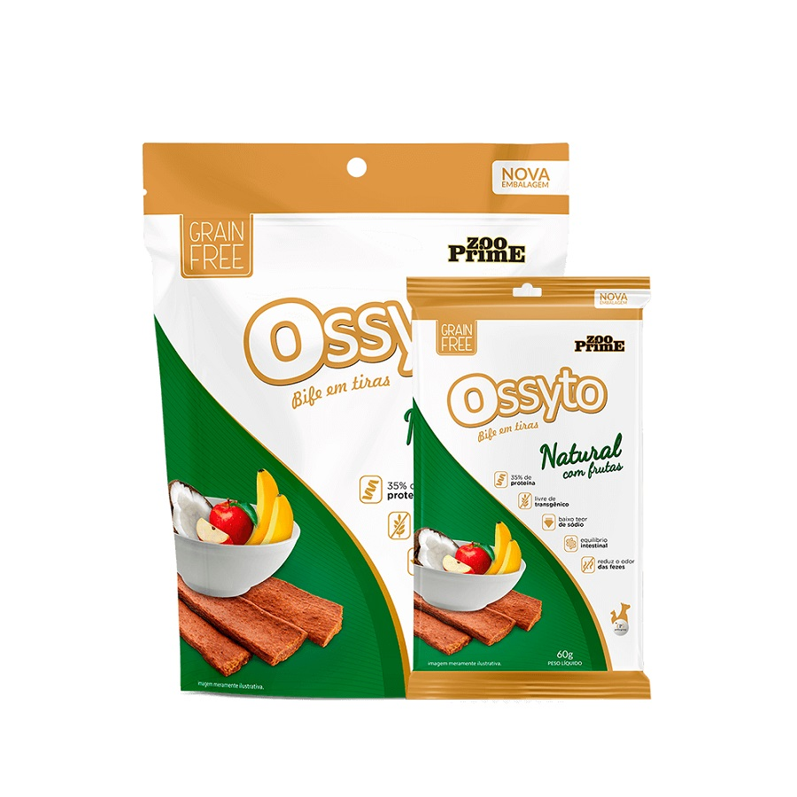 Bifinho Ossyto Natural com Frutas 60g