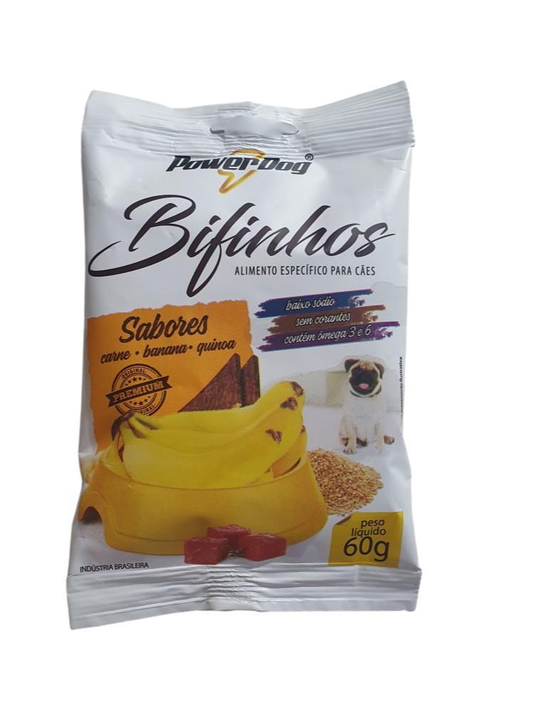 Bifinho Powerdog Carne Banana Quinoa 60g
