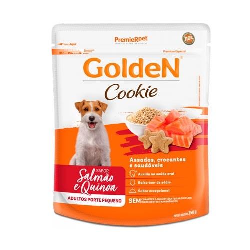 Biscoito Golden Cookie para Cães Adultos Raças Pequenas Sabor Salmão e Quinoa 350g