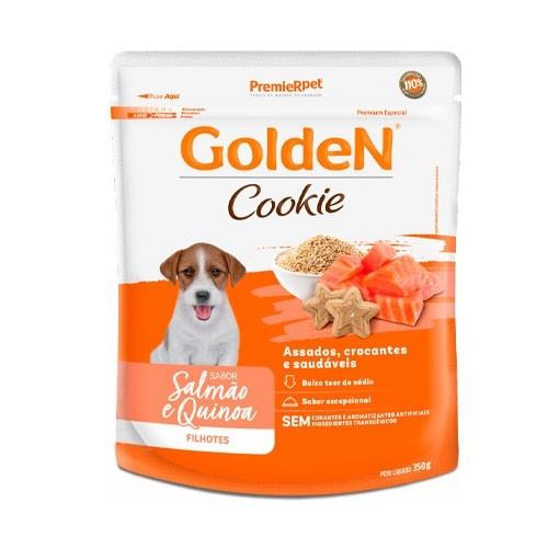 Biscoito Golden Cookie para Cães Filhotes Sabor Salmão e Quinoa 350g