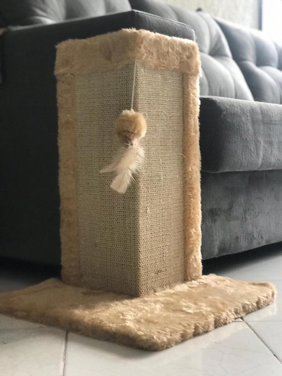 Brinquedo Arranhador Divert Cat de Canto para Gatos Bege