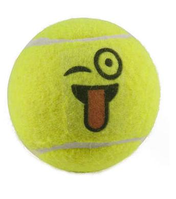 Brinquedo Lcm Bola De Tênis Emoji - Amarela