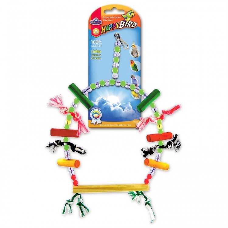Brinquedo Para Pássaros Balanço Extra Grande Corda Calopsita e Psitacídeo