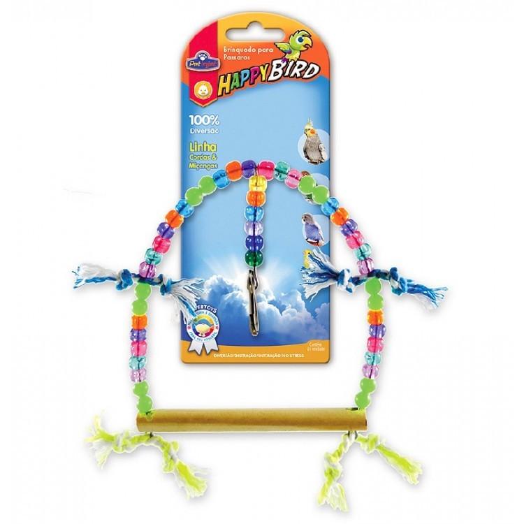 Brinquedo Para Pássaros Balanço Redondo Grande Calopsita e Psitacídeo