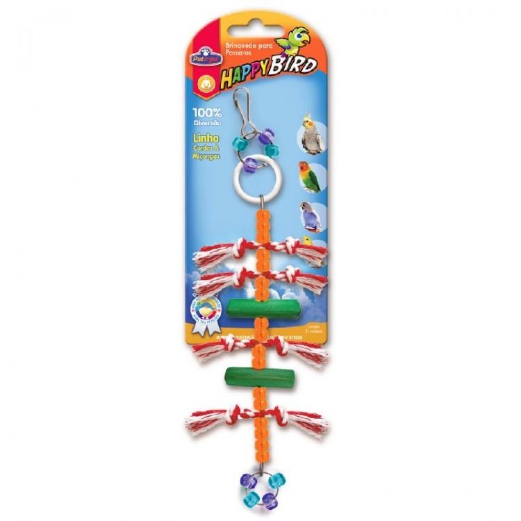 Brinquedo Para Pássaros Vertical 2 Talos de Madeira Calopsita e Psitacídeo