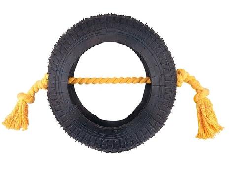 Brinquedo Pneu Grande com Corda para Cães - LCM