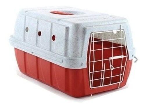 Caixa De Transporte Para Caes E Gatos Clicknew Vermelha