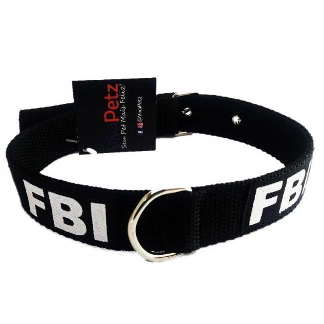 Coleira De Nylon Para Cão FBI
