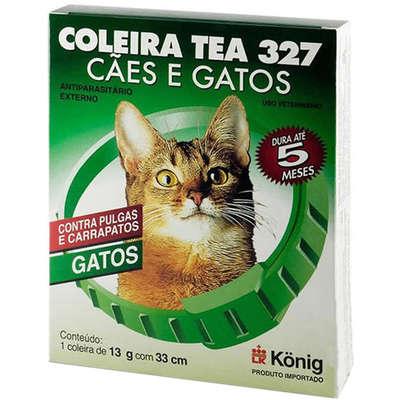 Coleira Antipulgas Tea 327 para Gatos 3gr 33cm