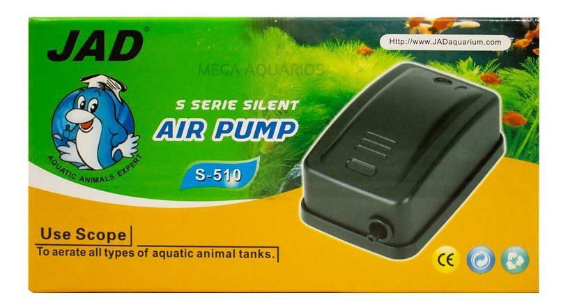 Compressor Oxigenador De Ar Para Aquários S-510 Boyu / Jad
