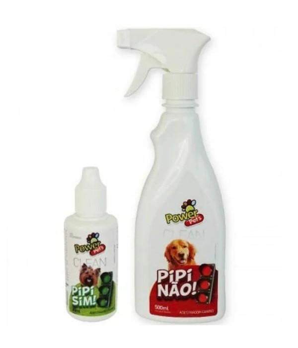 Educador Sanitário Canino Pipi Sim + Pipi Não Power Pets 530ml